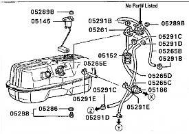 88 d50 gas tank parts