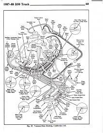 1988 mighty max carburetor vacuum diagram needed(actual