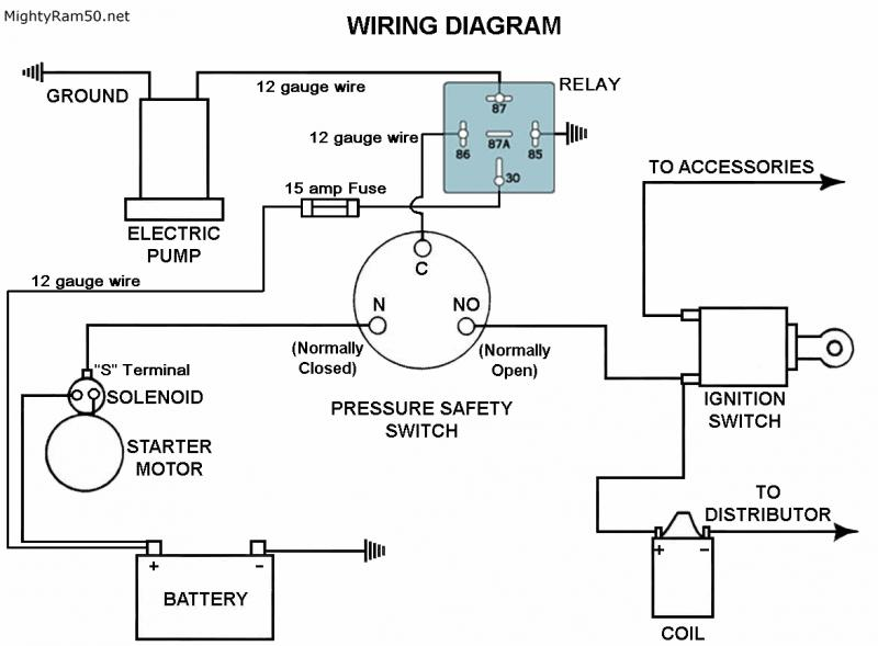 Electrical: Wiring In My Electric Fuel Pump on fuel pump relay wiring diagram, pump pressure switch wiring diagram, electric heat pump wiring diagram,