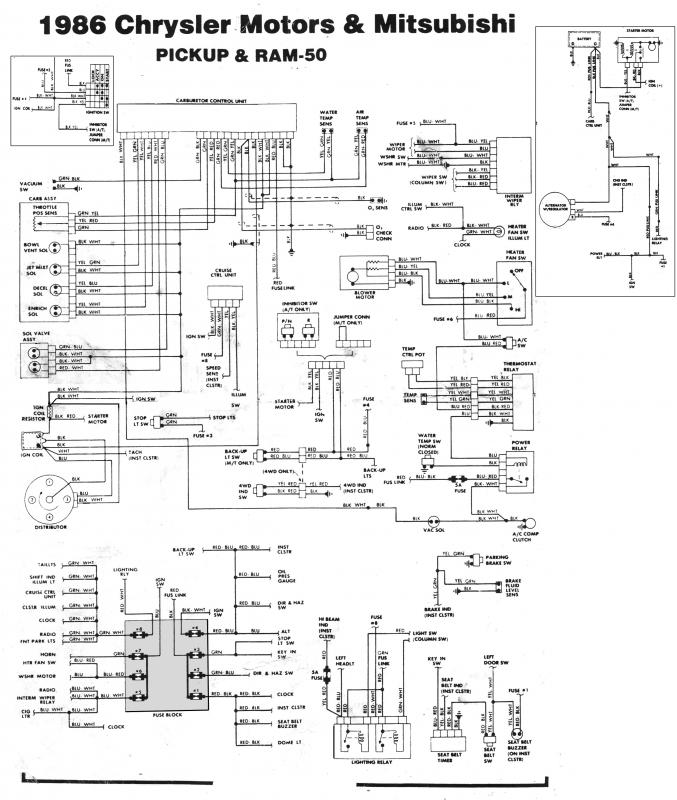 1988 mitsubishi mighty max radio wiring diagram
