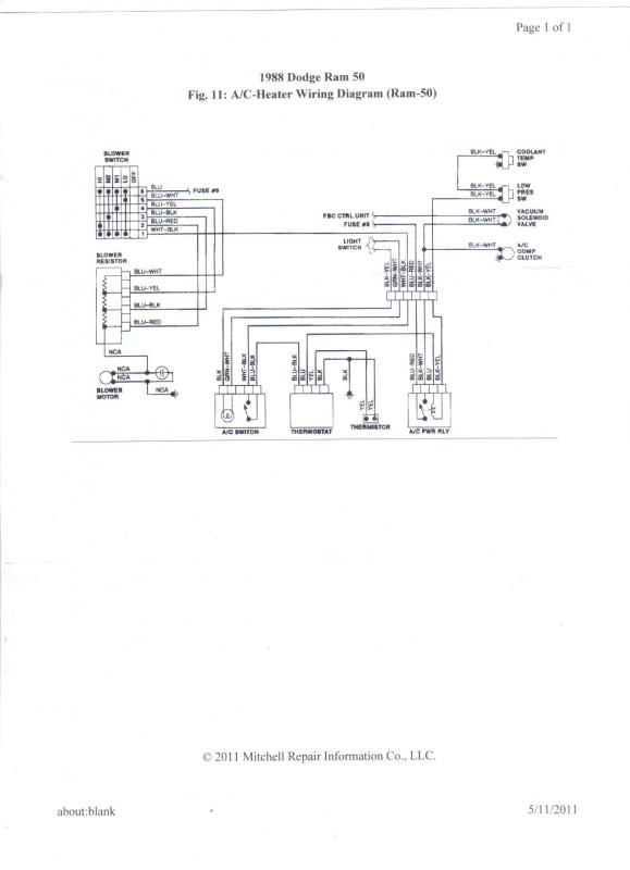 1987 Dodge Ram 50 Wiring Diagram Lights • Wiring Diagram