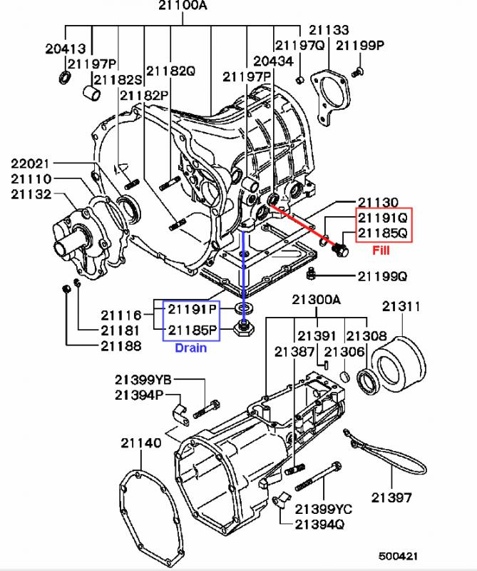 Mitsubishi Mighty Max Transmission Parts Diagram Auto