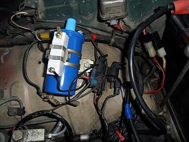 Click image for larger version.  Name:coil and ballast installed.jpg Views:6 Size:216.2 KB ID:25129